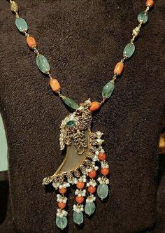 Baby Jewelry, Coral Jewelry, India Jewelry, Diamond Jewelry, Gemstone Jewelry, Beaded Jewelry, Beaded Necklace, Hyderabadi Jewelry, Pearl Necklace Designs