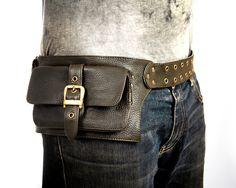 Nice!   men leather bag in Olive belt pouch hip bag by Shovavaleather, $78.00