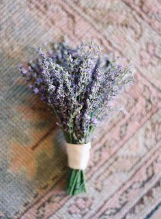 a simple lavender bouquet Florals: http://www.hollyflora.com/ Photography: Jose Villa Photography - josevillaphoto.com  Read More: http://www.stylemepretty.com/2014/07/17/al-fresco-elegance-at-cal-a-vie/