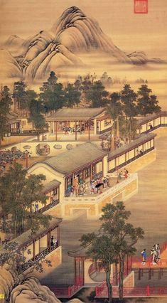 1234 Under Wear n underwear Chinese Landscape Painting, Korean Painting, Landscape Paintings, Japan Painting, China Painting, Traditional Paintings, Traditional Art, Japanese Prints, Japanese Art