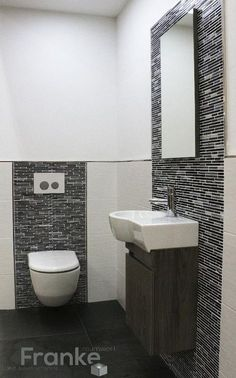 Home Design Ideas: Home Decorating Ideas Bathroom Home Decorating Ideas Bathroom Small Guest Toilet Solution White Wall Tile TopCollection Minos . House Bathroom, Trendy Bathroom, New Toilet, White Wall Tiles, Guest Toilet, Small Bathroom, Toilet Design, Bathroom Design, Bathroom Decor