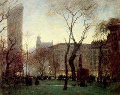 A painter's blurry, enchanting, elusive New York - Paul Cornoyer    Born in St. Louis in 1864 and trained in France, Paul Cornoyer