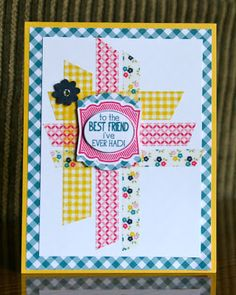 Stampin' Up! Label Love by Krystal's Cards and More: I'm still here!! I CASEd this card from another demo. Love the design, colors and new Stampin' Up! products!