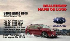 2015 Subaru Forester Business Card ID# 21345