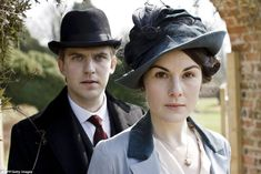 Ms Dockery, pictured with on-screen husband Dan Stevens, has risen to global fame as Lady Mary in Downton