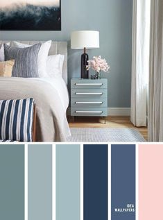 10 Beautiful Color Schemes For Your Bedroom { Sage + Navy Blue Blush Accents } Sage green and navy&; 10 Beautiful Color Schemes For Your Bedroom { Sage + Navy Blue Blush Accents } Sage green and navy&; Bedroom Colour Palette, Bedroom Wall Colors, Bedroom Color Schemes, Sage Color Palette, Interior Colour Schemes, Blue Bedroom Walls, Teal Blue Bedrooms, Calm Colors For Bedroom, Paint Colours For Bedrooms