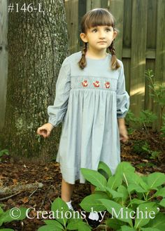 """""""Foxes"""" smocking design Creations by Michie'"""
