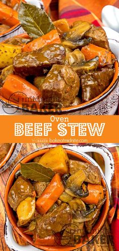 Slow oven roasting is the key to the great flavor of this beef stew. Slow oven roasting is the key to the great flavor of this beef stew. Stew Meat Recipes Quick, Oven Recipes, Soup Recipes, Cooking Recipes, Braiser Recipes, Oven Roast Beef, Slow Cooked Beef, Comfortfood, Kitchens