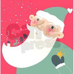 Santa Claus Shower Curtain on CafePress.com