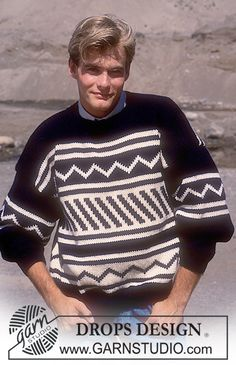 "DROPS 16-18 - DROPS Men's jumper with graphic pattern in ""Alaska"". - Free pattern by DROPS Design"