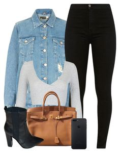 Untitled #1841 by wh0lau on Polyvore featuring polyvore, mode, style, WithChic, Topshop, Zara, Hermès, fashion and clothing