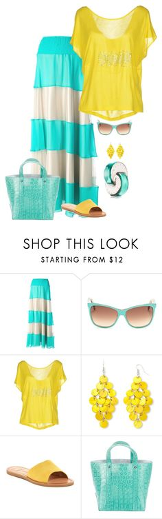 """""""Summer"""" by chateaubeau ❤ liked on Polyvore featuring Le Ragazze Di St. Barth, Gucci, Just Cavalli, Mixit, Dolce Vita, Tiffany & Co. and Dolce&Gabbana"""