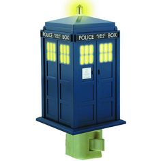 Doctor Who Tardis Night Light. Something the wife would buy. But she's already got a weeping angel.