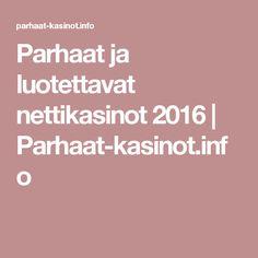Parhaat ja luotettavat nettikasinot 2016 | Parhaat-kasinot.info