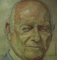 Portrait Painting . Detail III .  Acrylic on Board . 77cm x 107cm .