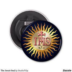 The Jesuit Seal Bottle Opener