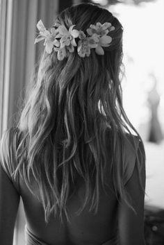 back hair flower band