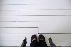 How To: Paint Your Floors White. #diy #floors