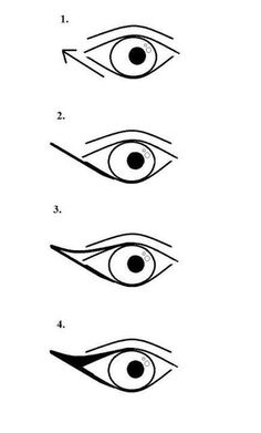 For a more dramatic cat eye, draw a triangle from the outer corner and connect it to the lower lash-line. | 15 Game-Changing Eyeliner Charts If You Suck At Makeup