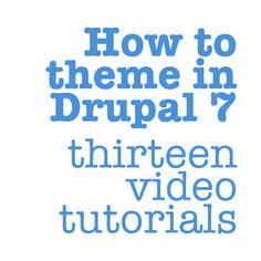 How to theme in Drupal 7 (thirteen video tutorials)    http://drupal.org/node/1351116
