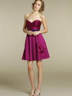 bella bridesmaid taffeta strapless short dress sweetheart grosgrain belt natural waist side pockets o201