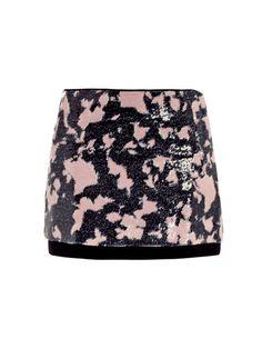 Diane Von Furstenberg Elley Printed Sequin Mini Skirt