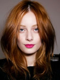 Center part? More layers? My side part is so ingrained but I like this cut. 18 Medium Haircuts to Try in 2015 via Brit + Co.