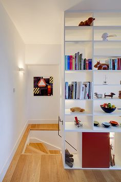 shelving instead of a wall