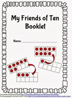 Friends of Ten Booklet Math Coach's Corner: Friends of Ten Booklet. FREE booklet for practicing combinations for making ten, also called Friends of Ten. Math Classroom, Kindergarten Math, Teaching Math, Classroom Organisation, Teaching Tips, Classroom Ideas, Preschool, Math Worksheets, Math Resources