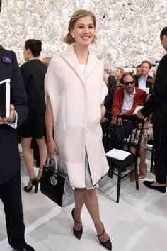 Rosamund Pike Photos: Front Row at Christian Dior - Celebrity Fashion Trends
