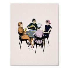 The bridge club, what more can I say! Canasta Card Game, Girls Night Out Games, Game Night, Custom Posters, Vintage Posters, Bridge Card Game, Retro Images, Acrylic Wall Art, Girlfriends