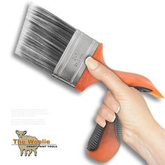 Pistol-Grip Ergonomic 3.0 Inch ANGLE HEAD Paint Brush by The Woolie - Household Bristle Paintbrushes - Amazon.com