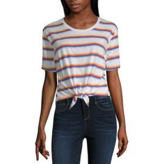 182286add9bce3 Buy Flirtitude-Womens Crew Neck Short Sleeve T-Shirt Juniors at JCPenney.com