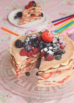 Speels & Smakelijk: pannenkoekentaart French Toast Pancakes Recipe, Feel Good Food, Baking With Kids, Just Cakes, Happy Foods, Food Humor, Diy Food, Food Ideas, How Sweet Eats