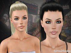 Ponytail hairstyle 15 by sims2fanbg for Sims 3 - Sims Hairs - http://simshairs.com/ponytail-hairstyle-15-by-sims2fanbg/