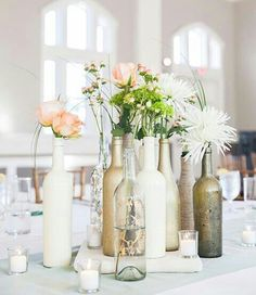 Great idea for vases on a budget.