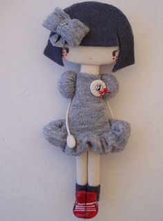 I may be done making amigurumi animals, but part of me really wants to make dolls.