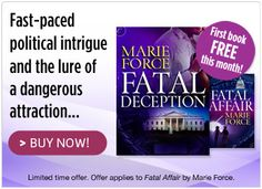 Carina Press -FATAL DECEPTION by Marie Force is FREE  #Harlequin, #Romance, #books, #read, #women, #publishing