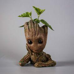 16cm Guardians of the Galaxy BABY GROOT FIGUR Blumentopf Suit Stift Pot Gift Hot