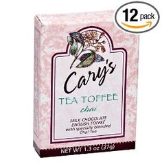 Cary`s of Oregon Chai Tea Toffee, 1.3-Ounce (Pack of 12)
