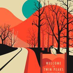 Twin Peaks Art Print Red