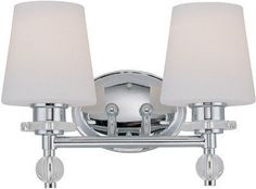 Lite Source LS-16932C/FRO Valerie 2-Lite Wall Lamp, Chrome with Frosted Glass Shade by Lite Source. $118.16. From the Manufacturer This 2-Lite Wall Lamp from the Lite Source Valerie Collection, with its Chrome body and Frosted Glass Shade, will add style to any home. Lite Source Inc. remains true to its commitment to provide the largest selection of fashion forward lighting that is always in style. From accent lighting and desk lighting to table lamps and ceili...