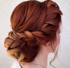 Ginger hair style