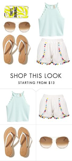 """""""A Day in Summer!"""" by cow-moe ❤ liked on Polyvore featuring Boohoo, Hollister Co., Chloé and Kate Spade"""