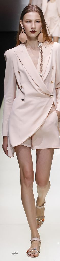 -Emporio Armani Spring 2016...I hear the '80's calling women fashion outfit clothing style apparel @roressclothes closet ideas