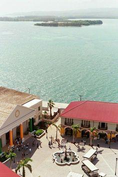 Aerial view of Falmouth, Jamaica