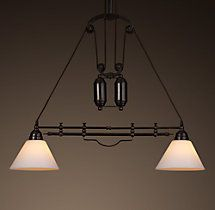 cartesian pulley double pendant 649 special 519 restoration hardware
