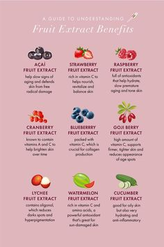Not only are fruits delicious, they provide amazing benefits for your skin! Read this guide to learn more about the benefits of what is in your fridge.