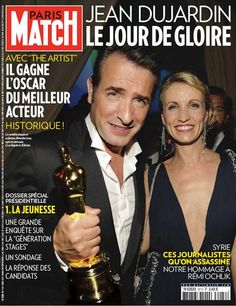 PARIS MATCH - Alexandra Lamy wearing pre fall 2012 gown MARTHA,  and earings MUSCADE at the 84th Oscars ceremony.