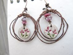 Au Fil Des Fleurs ..... : des boucles d'oreille de style créoles .... : Boucles d'oreille par les-reves-de-minsy
